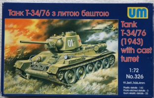 UM 1/72 326 T-34/76 1943 with Cast Turret